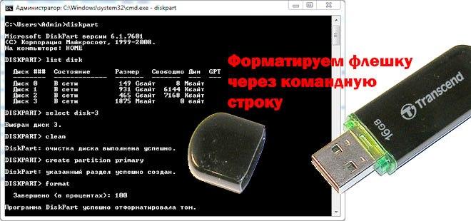 DiskPart о завершении раздела
