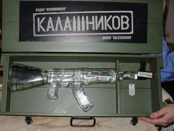 """Бутылка водки """"Калашников"""""""