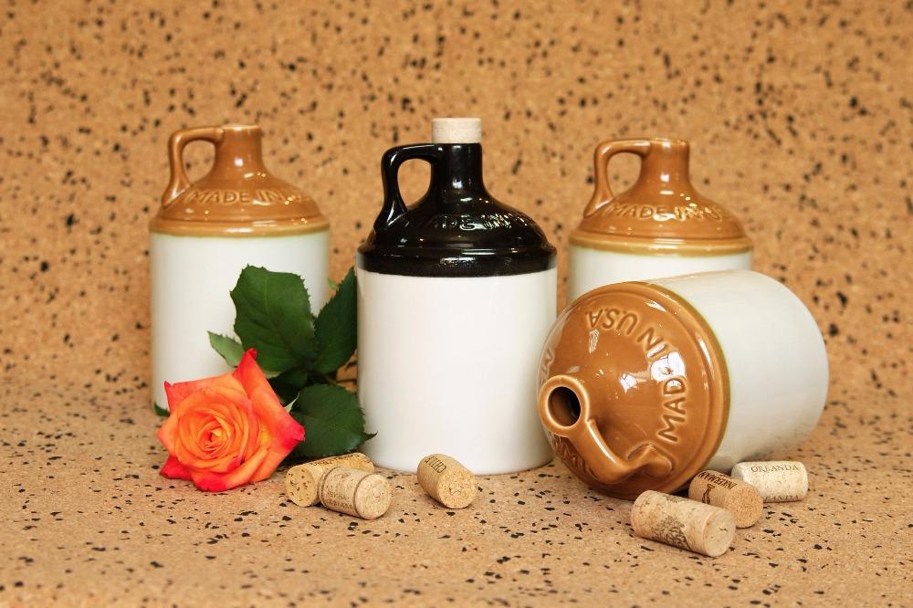 Глиняные бутылочки