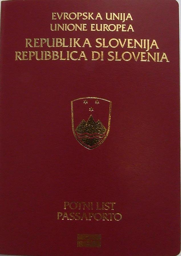 Старый паспорт гражданина Словении