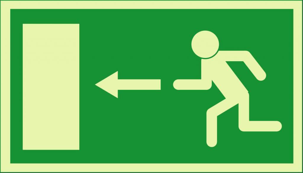 Обозначение эвакуационного выхода