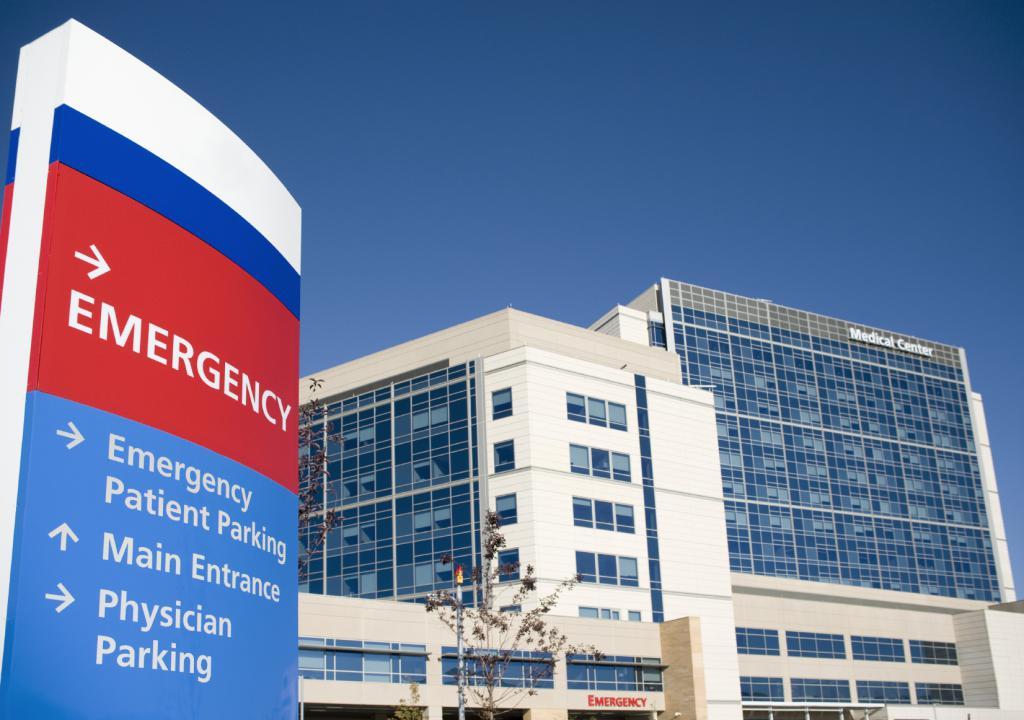 Въезд на территорию больницы