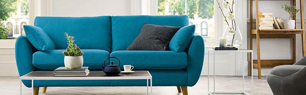 стильный бирюзовый диван