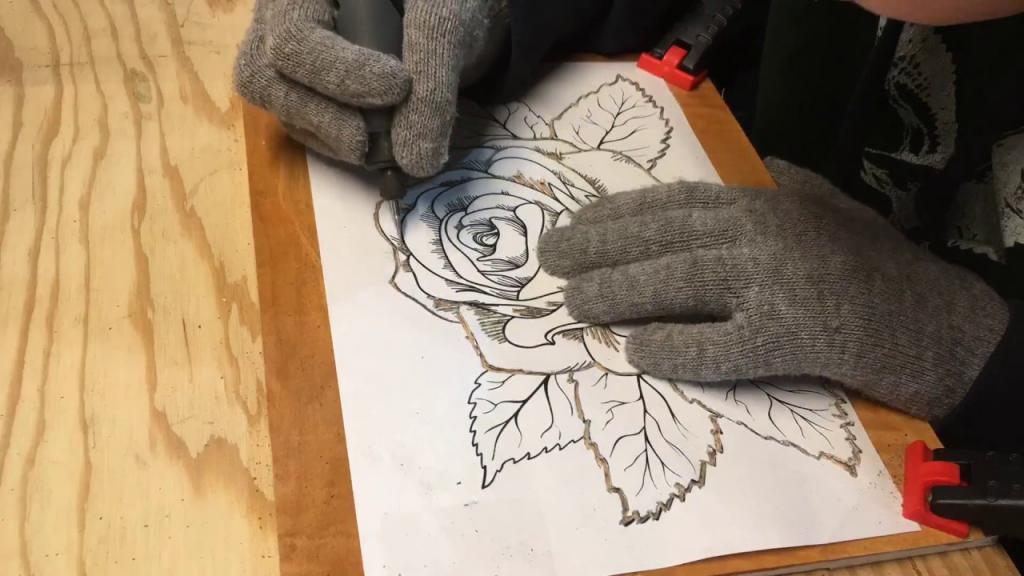 перенос рисунка для резьбы по дереву