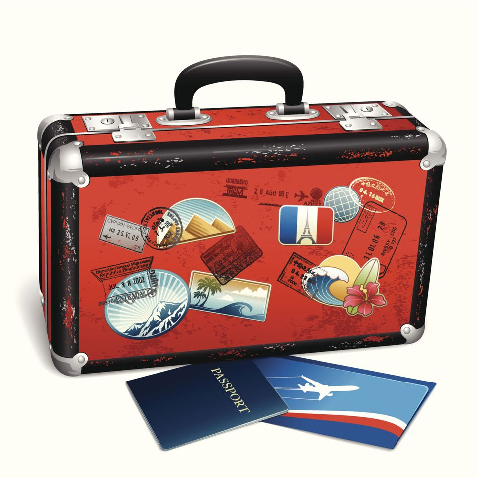 Картинка с чемоданом
