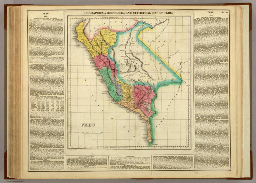 Винтажная карта Перу