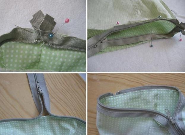 молния к сумке с подкладкой