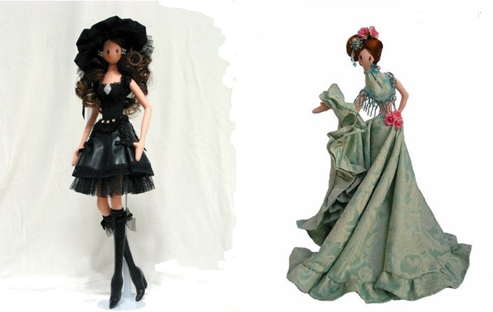 Варианты интерьерной куклы тряпиенс