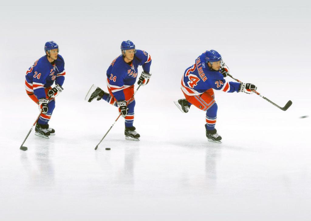Тренировка хоккеиста