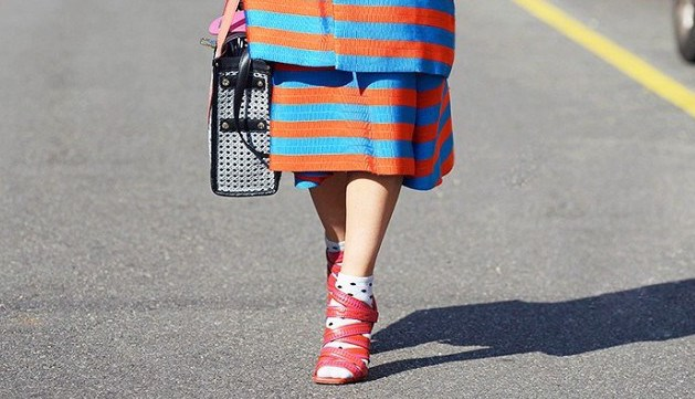 как носить туфли с открытым носком
