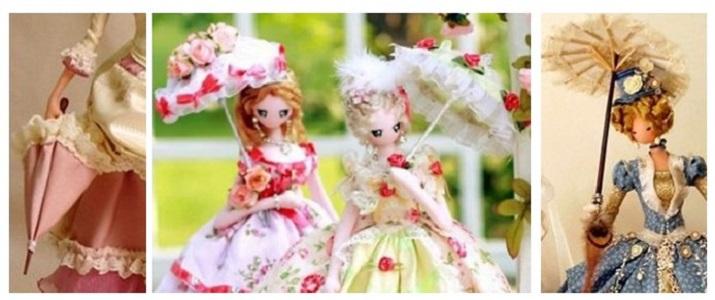 Кукла тряпиенс с зонтиком