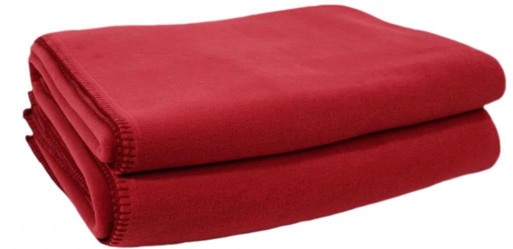 Флисовый плед на двуспальную кровать