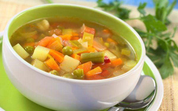 Суп без зажарки с овощами