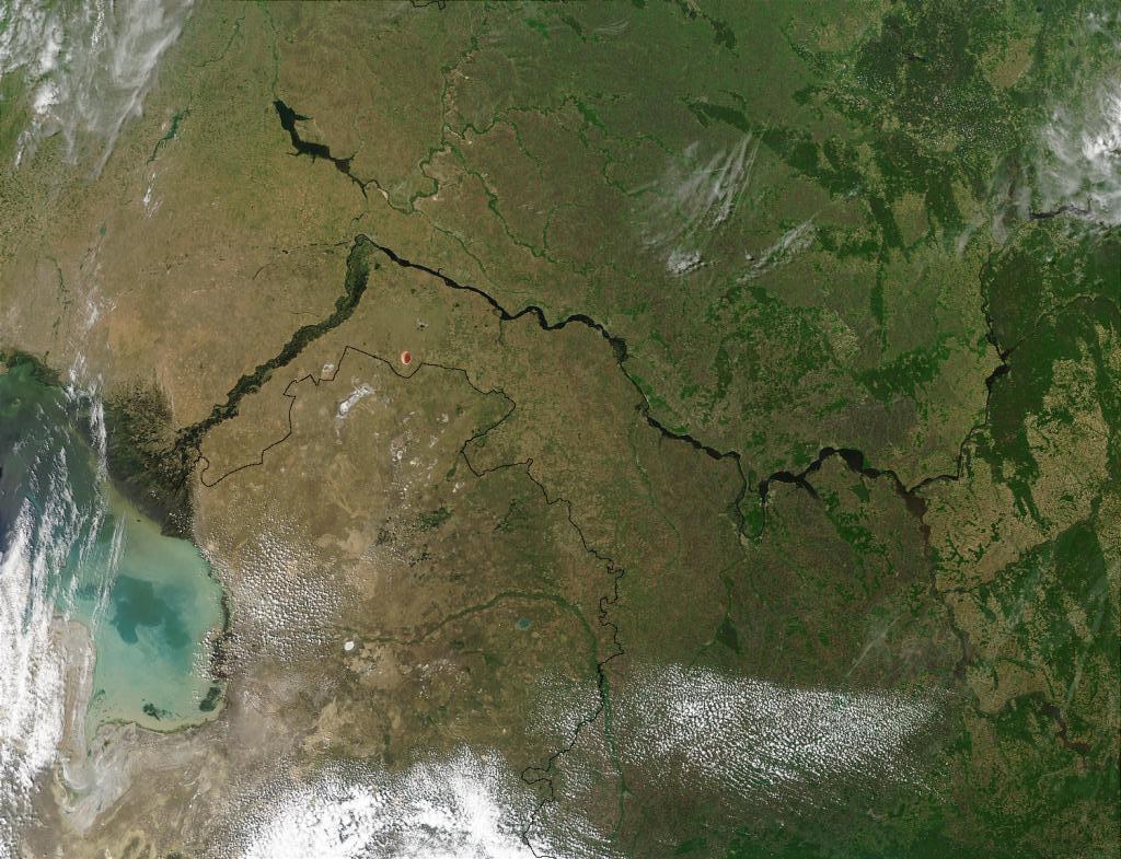 Долина Волги - вид из космоса