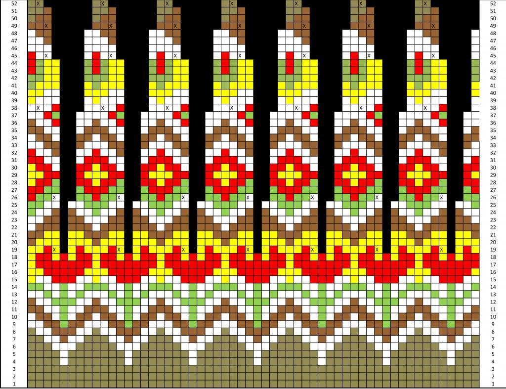 лопапейса схема вязания