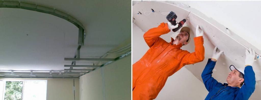 как сделать двухуровневый натяжной потолок с подсветкой