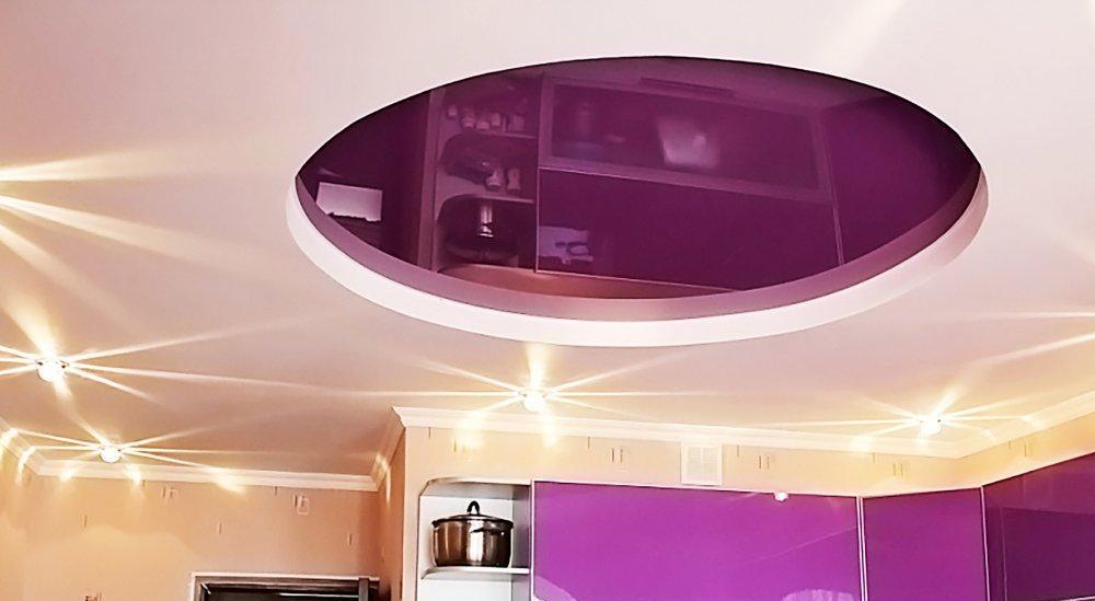 как сделать полку для двухуровневый натяжной потолок