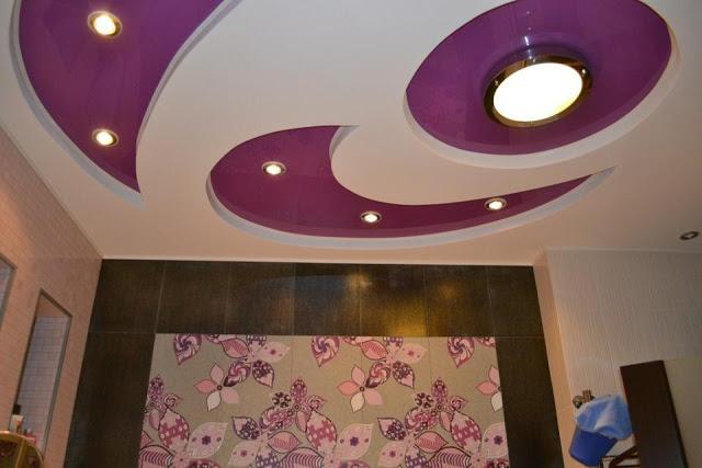 как сделать двухуровневый натяжной потолок с прямыми
