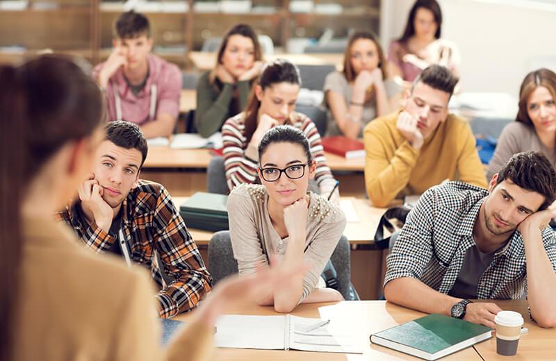 студенты и лекция