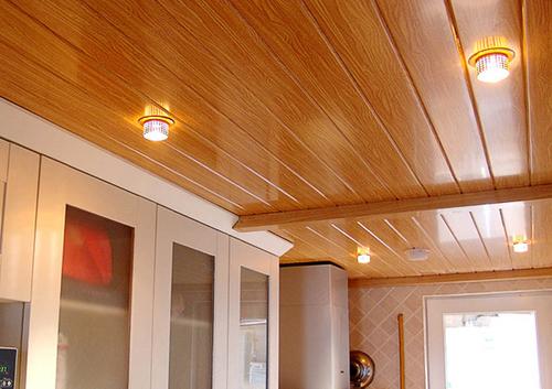 какой подвесной потолок лучше сделать на кухне