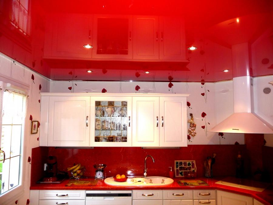 какой потолок сделать в маленькой кухне