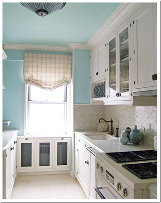 каким цветом сделать потолок на кухне