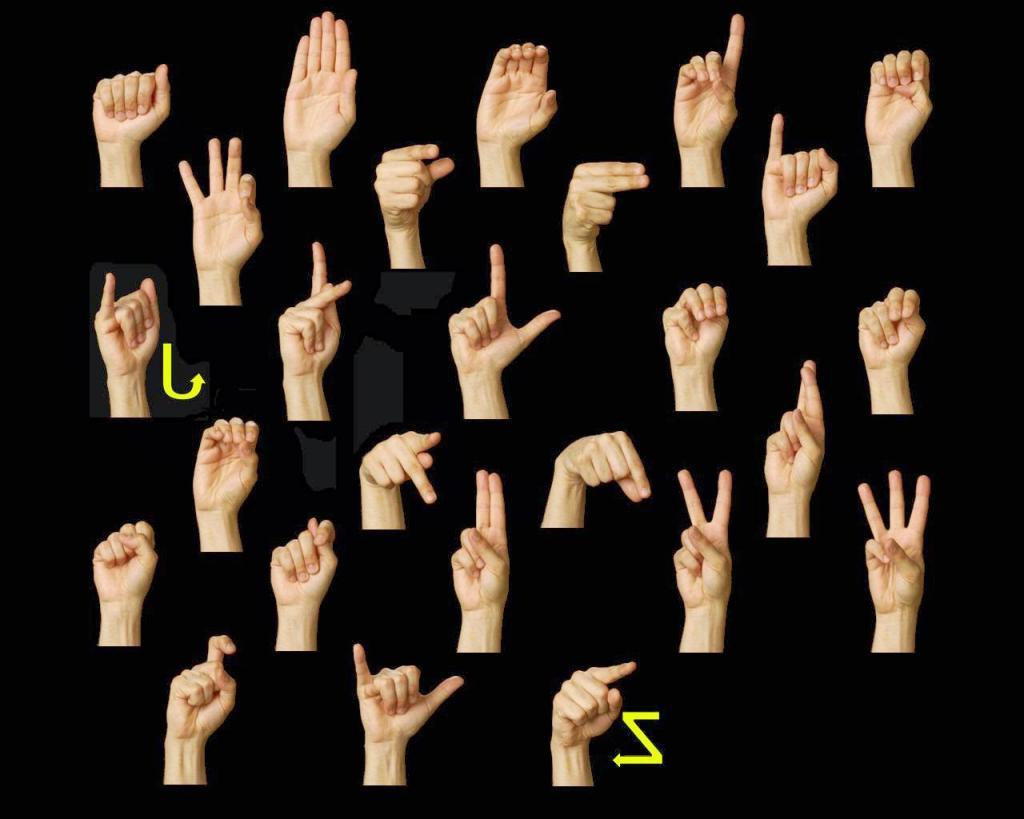 Знаки глухонемых