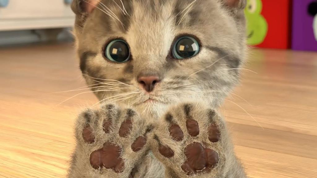 игрушка войлочный котенок