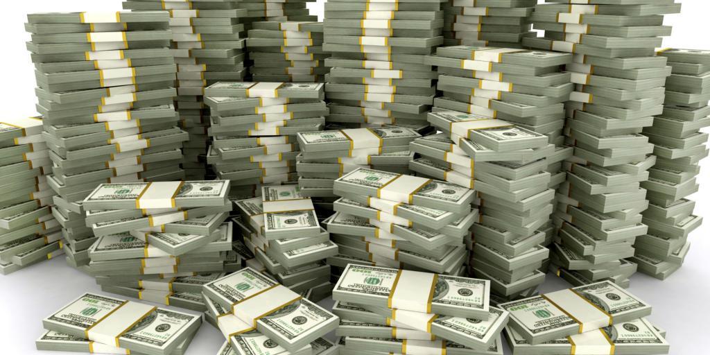 Куча денег как универсальный символ выгоды