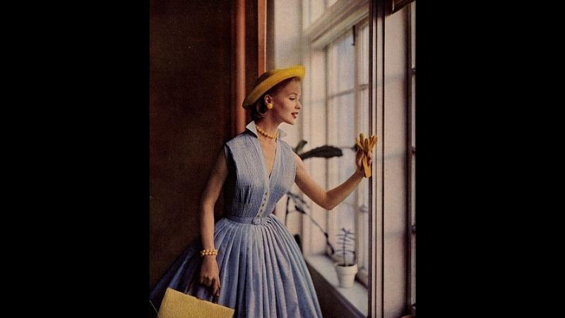 мода 50 годов платья