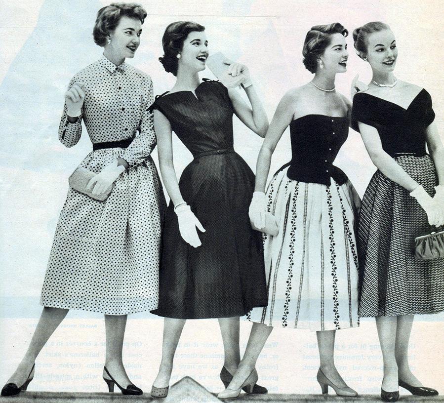 мода 50 годов