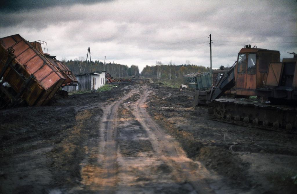 добыча торфа вблизи Москвы