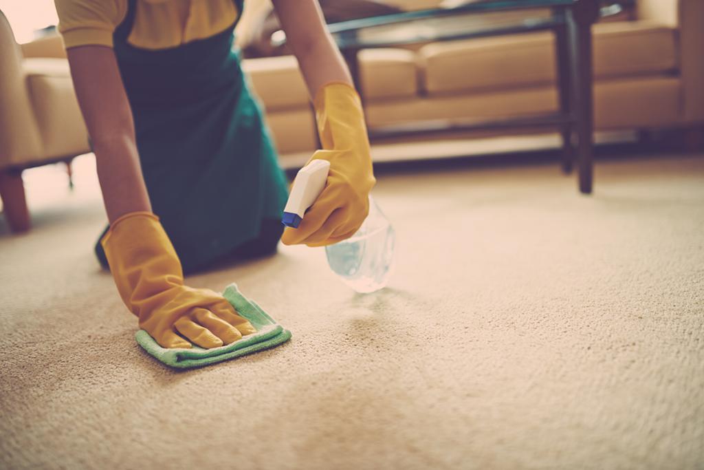 как отмыть зеленку с ковра если она впиталась глубоко