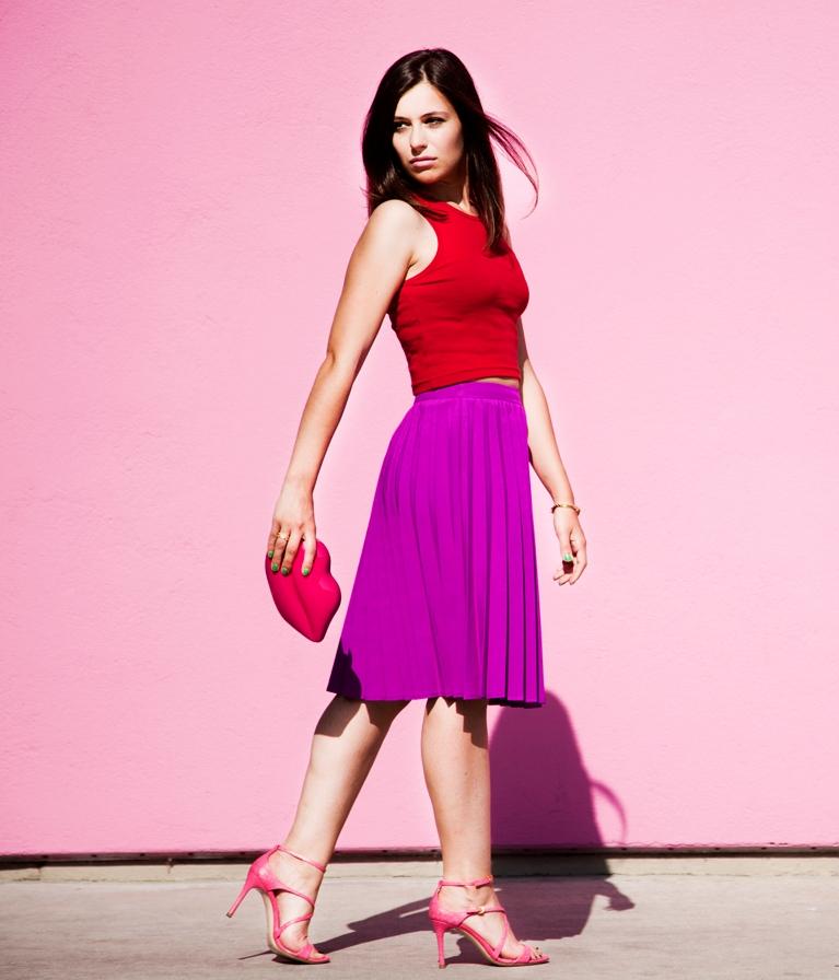 Фиолетово-красная палитра