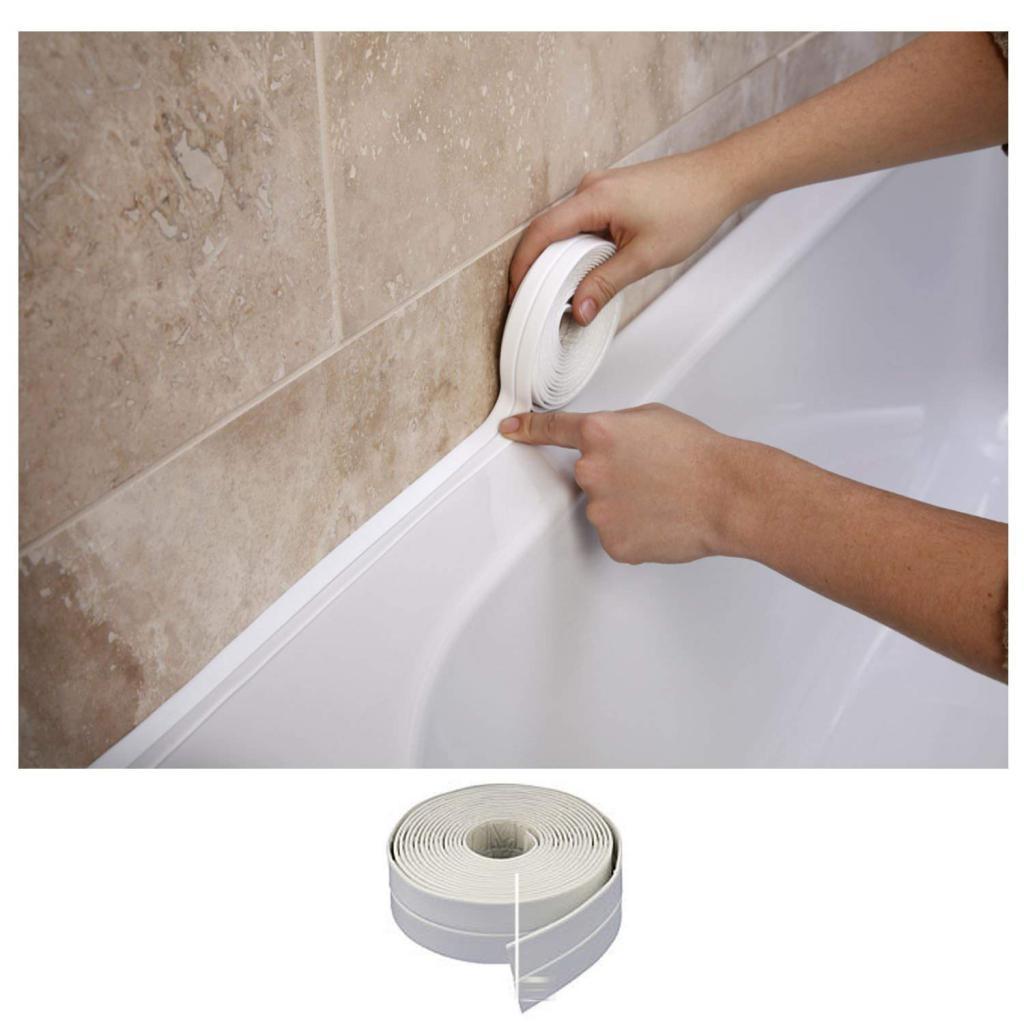 стык между акриловой ванной
