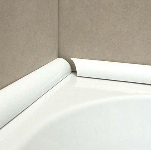 стык между акриловой ванной и плиткой