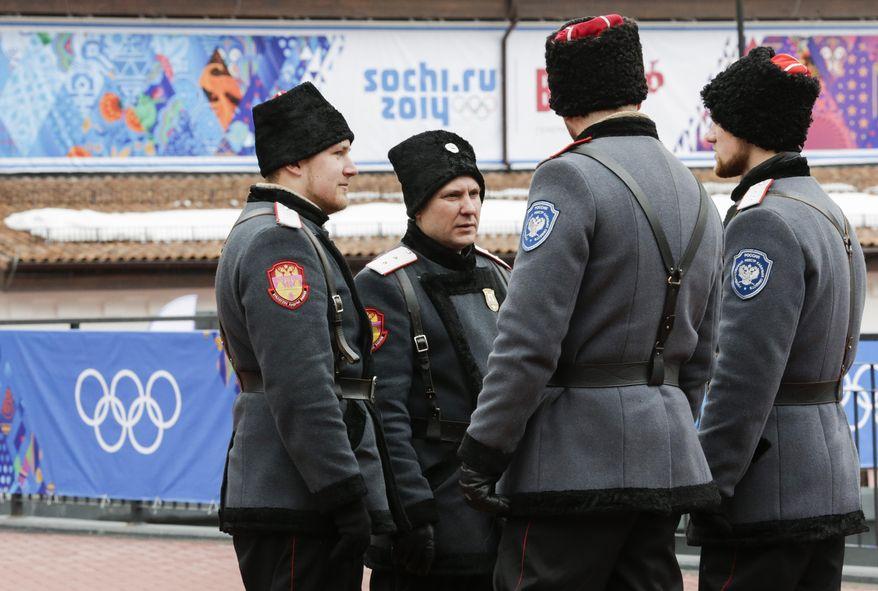 Казаки на Олимпиаде в Сочи