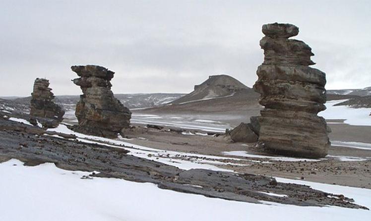 Пейзаж на островах Северная Земля