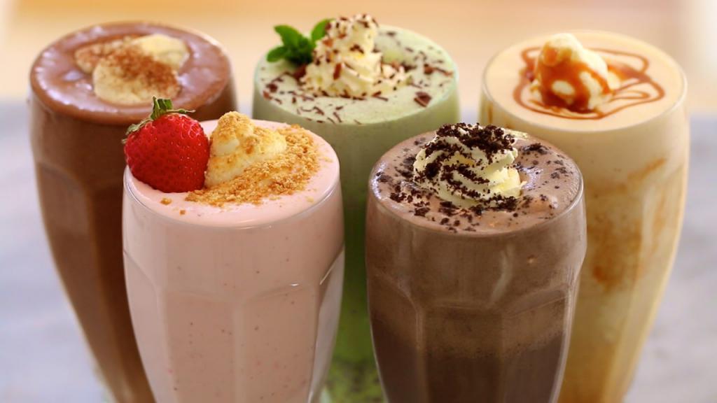 Виды молочных коктейлей
