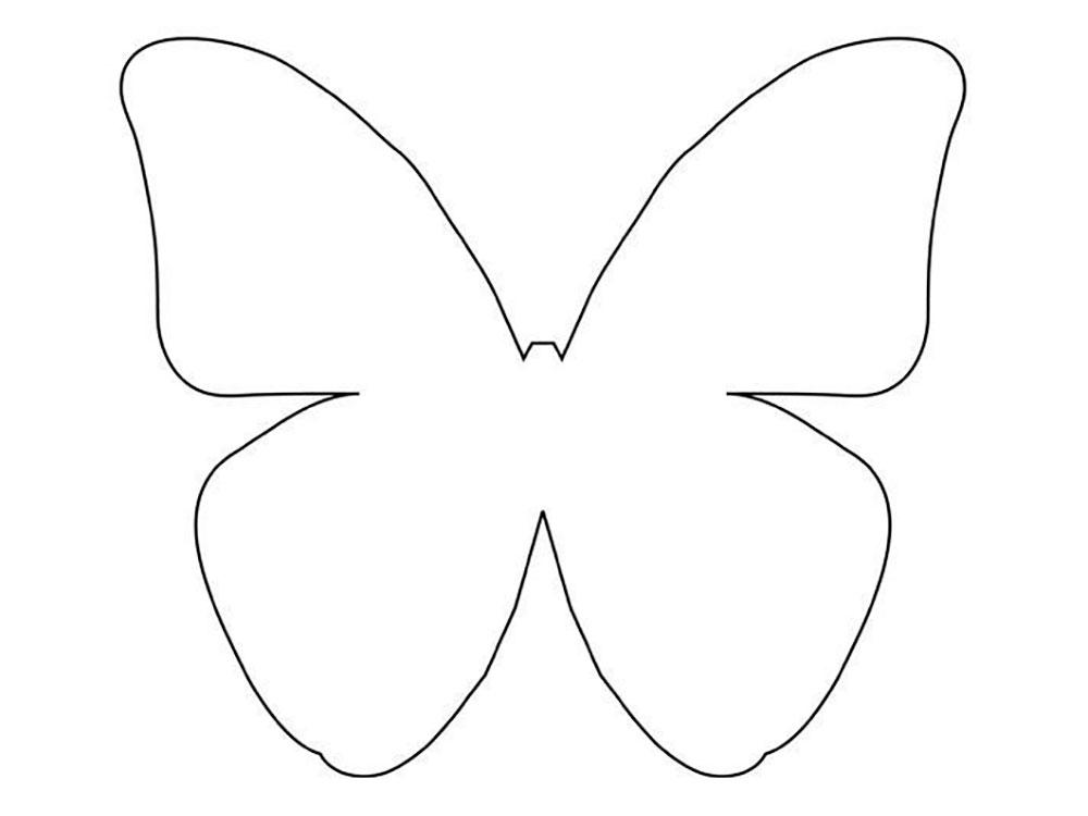 шаблон для вырезания бабочка