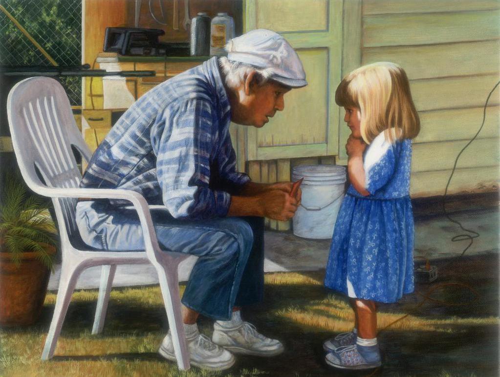 Дедушка и внучка