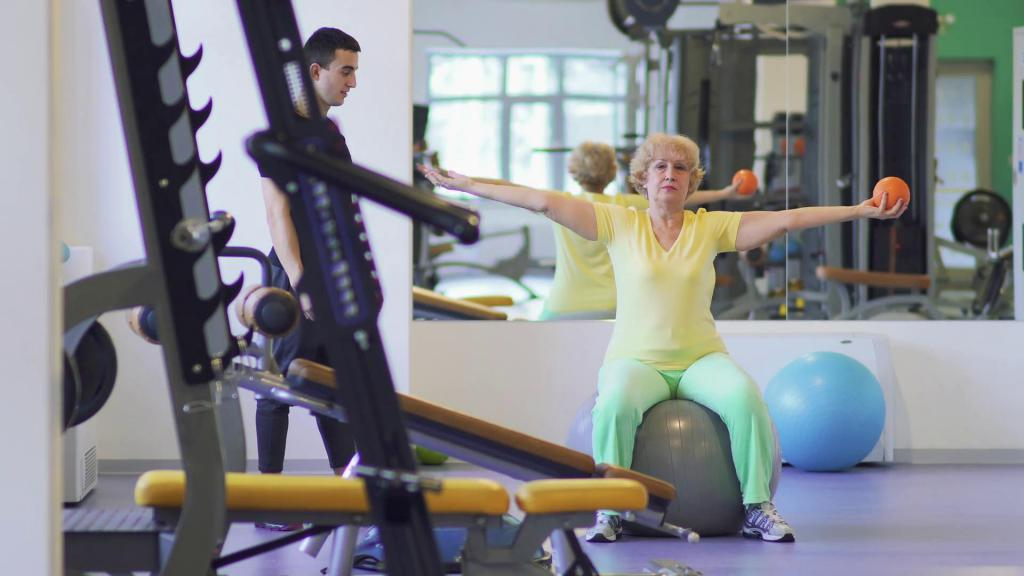 пожилые люди фитнес