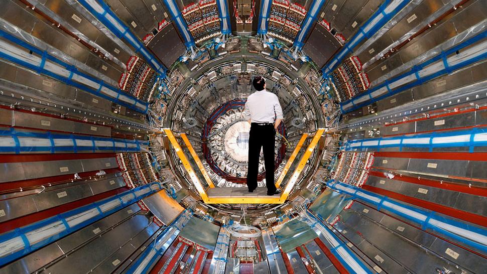 Размеры ускорителя частиц
