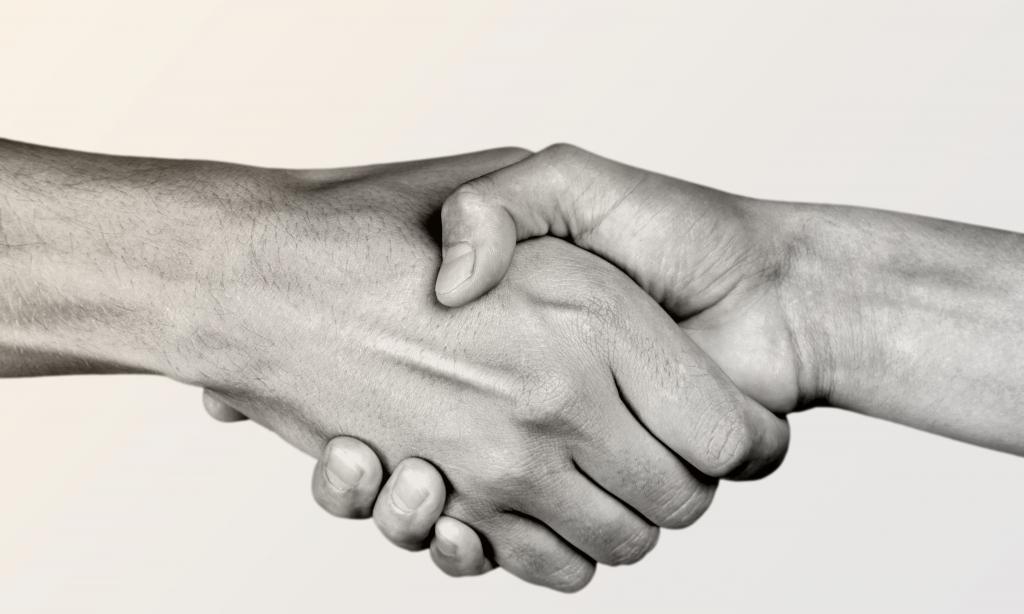 Люди пожимают друг другу руки
