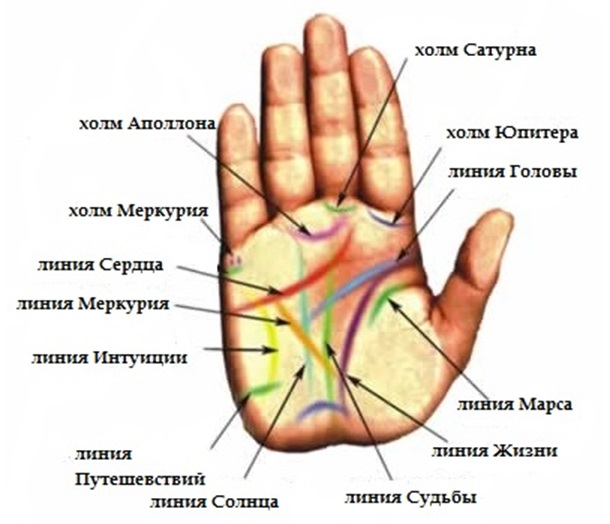 Линия путешествий на руке