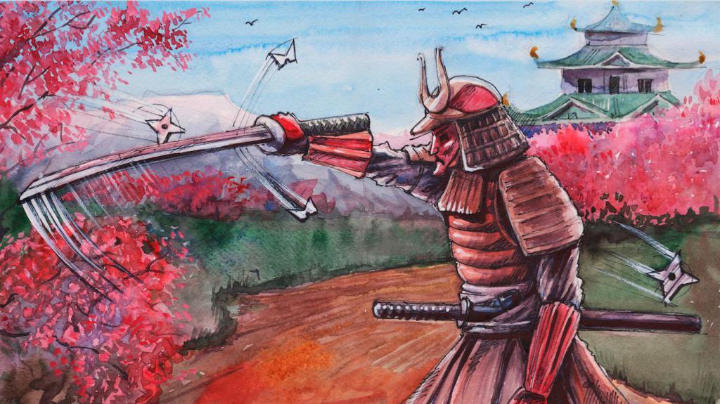 Самурай рисунок