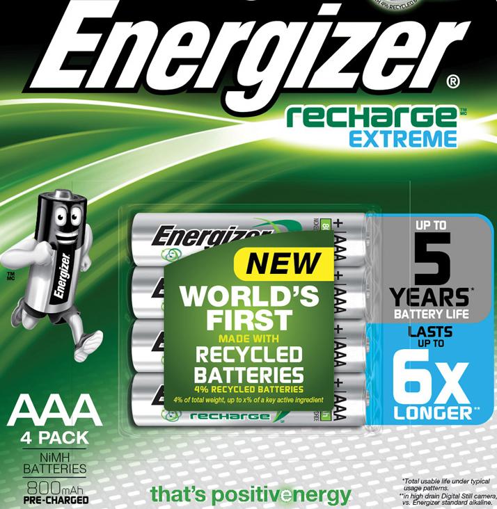 Аккумуляторы Energizer Extreme