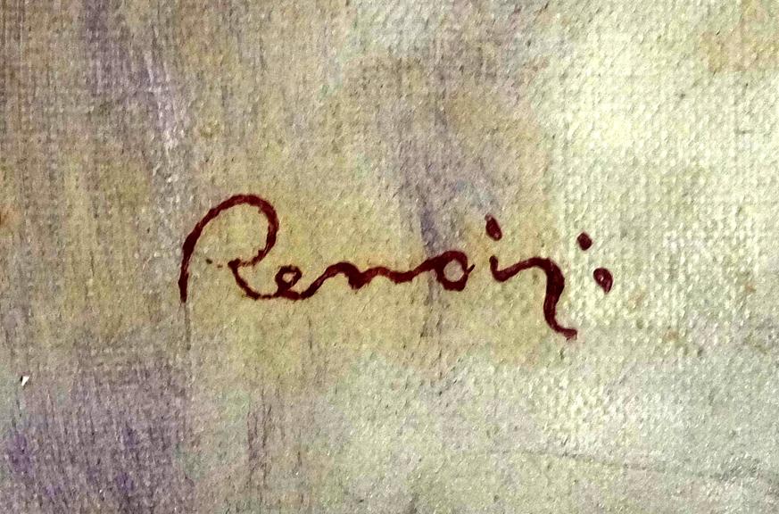 Подпись Ренуара