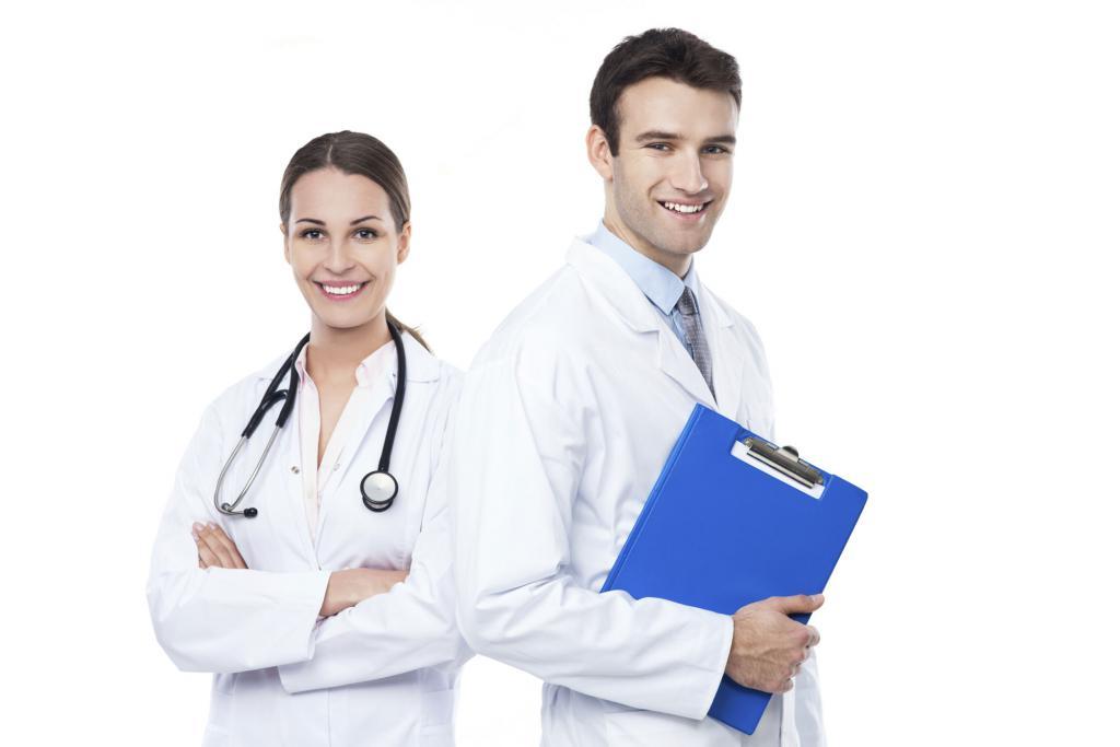 врач с санитарной книжкой