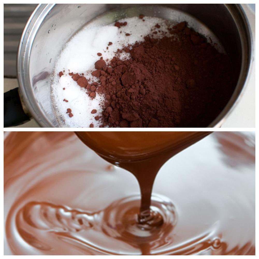 Шоколадный гляссаж